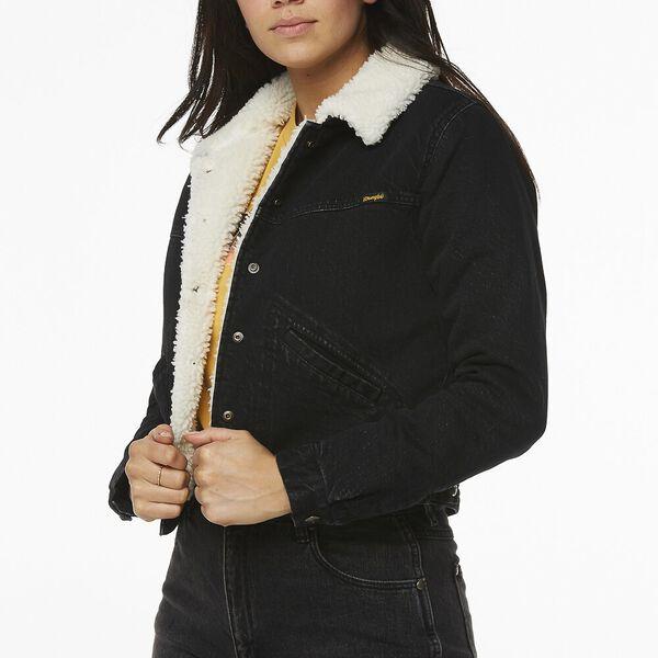 Blondie Sherpa Denim Jacket, Highway Black, hi-res