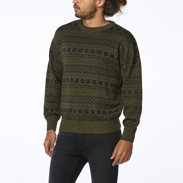 SOUNDTRACK SWEATER OLIVE BLACK, Olive Black, hi-res