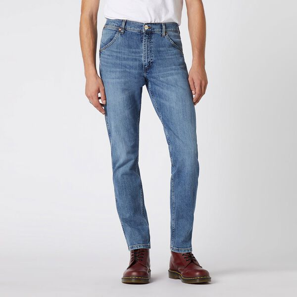 Icons 11MWZ Western Slim Jean, Light Trace Blue, hi-res