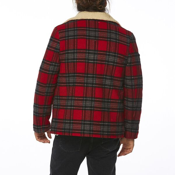 CABIN JACKET RED CHECK, Red Check, hi-res