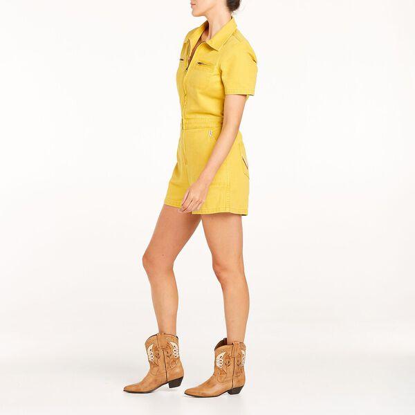 Delta Lady Romper, Dandelion Yellow, hi-res