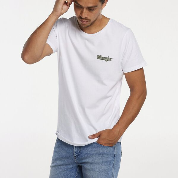 Stomper Outlines Tee, White, hi-res