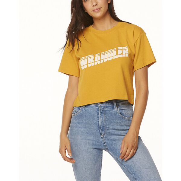 TAPES CROPPED TEE VINTAGE GOLD, Vintage Gold, hi-res
