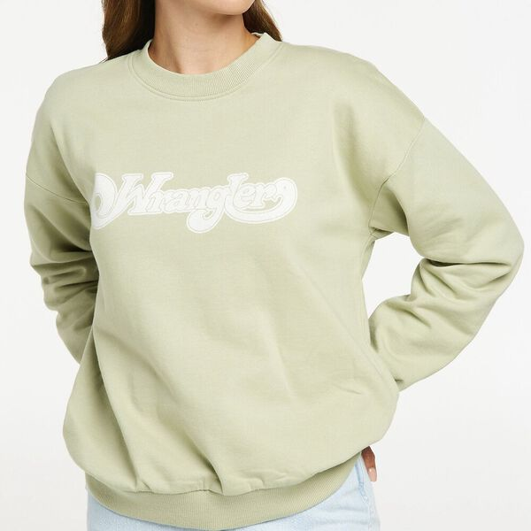 Afterglow Oversized Sweat, Sage, hi-res
