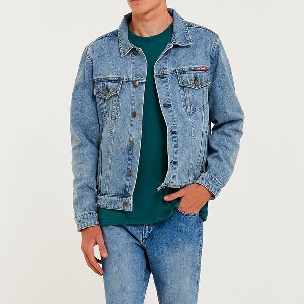Inappropriate Trucker Jacket, Original Blue, hi-res