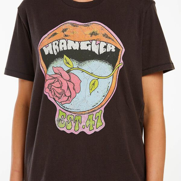 Rose Fangs Graphic Tee, Worn Black, hi-res