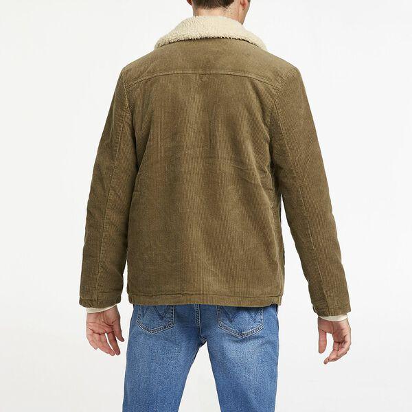 Bakers Sherpa Cord Coat, Olive Cord, hi-res