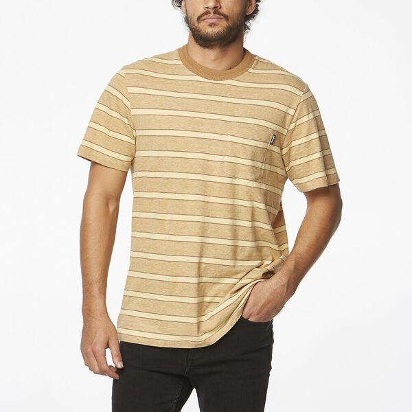Horizons Tee Gold Tan Stripe