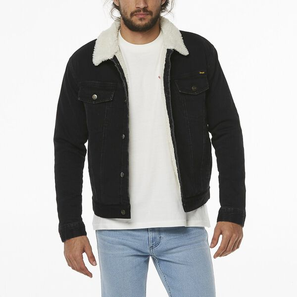 Denim Sherpa Jacket, Highway Black, hi-res