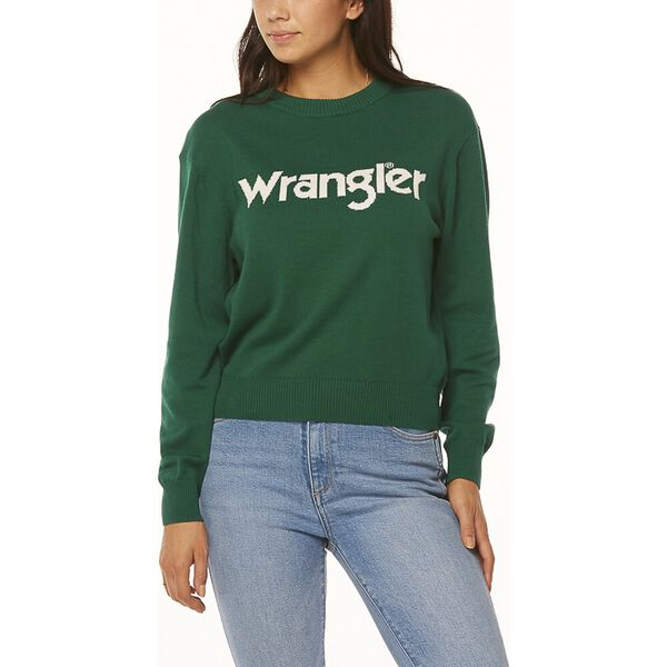 WRANGLER SWEATER GREEN/WHITE