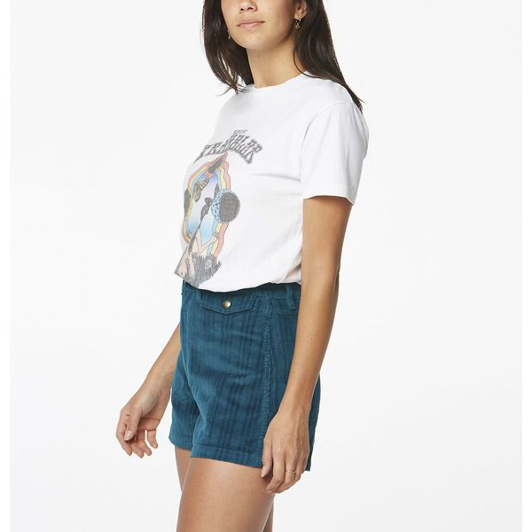 DIVINE WOMAN TEE WASHED BLACK, White, hi-res