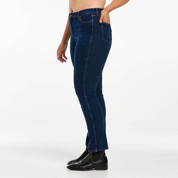 Classics Mid Waist Straight Jean, Dark Stone Indigo, hi-res