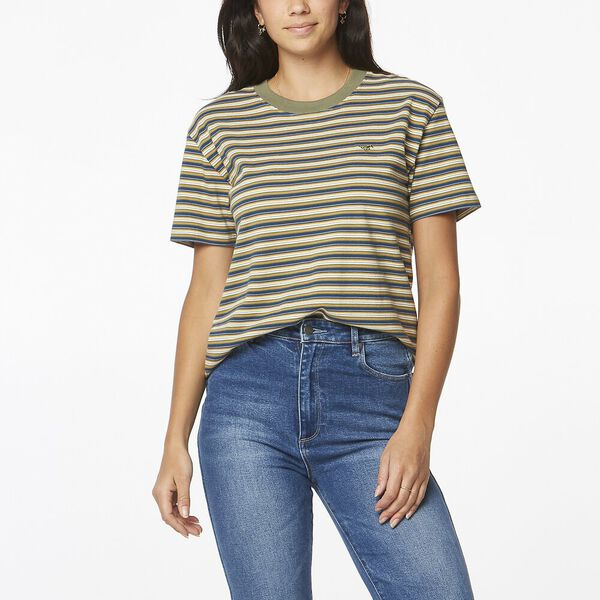 HALLS TEE WHISKEY STRIPE, Whiskey Stripe, hi-res