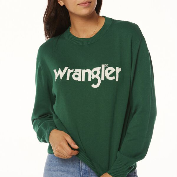 WRANGLER SWEATER RUST, Green/White, hi-res