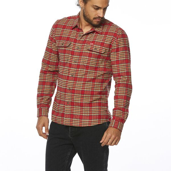 LOCK IN SHIRT RED CHECK, Red Check, hi-res