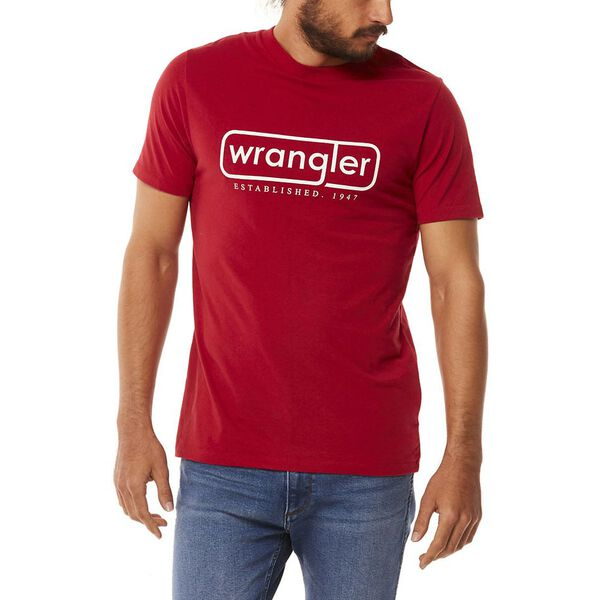 OXLEY TEE WORN RED, Worn Red, hi-res