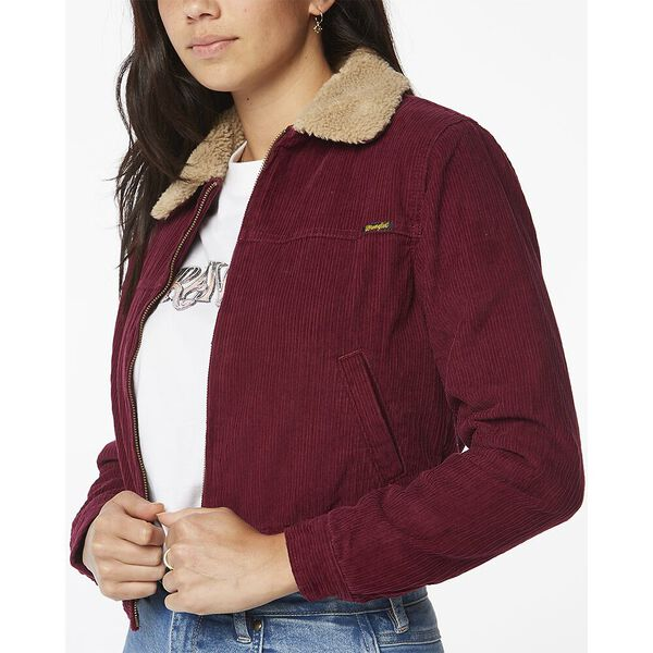 CROSSTOWN JACKET RED PLUM