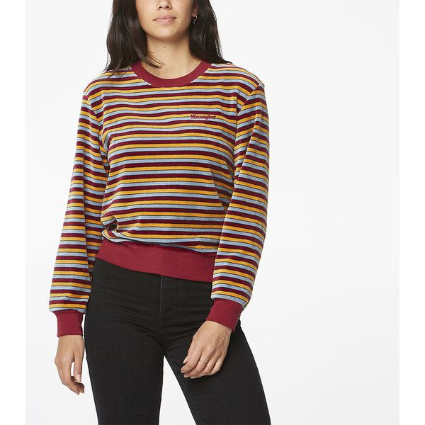 Simple Dreams Sweat Plum Stripe
