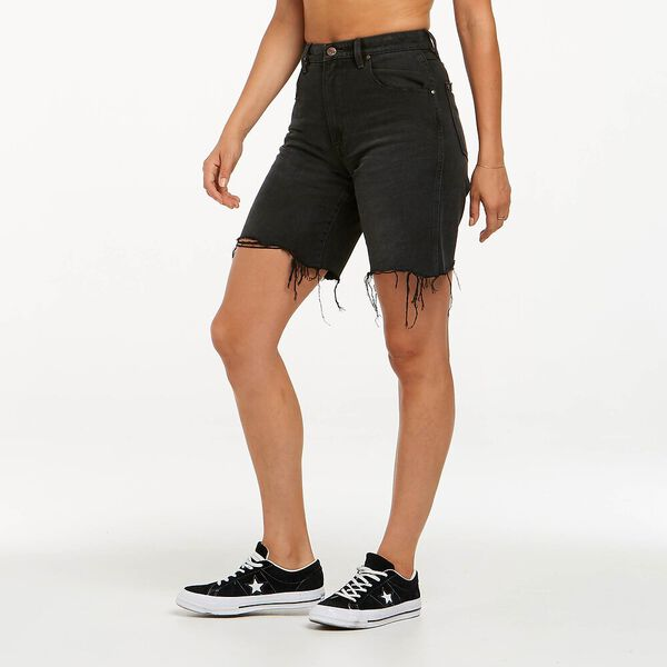 Frances Relaxed Short, Moonshadow Black, hi-res