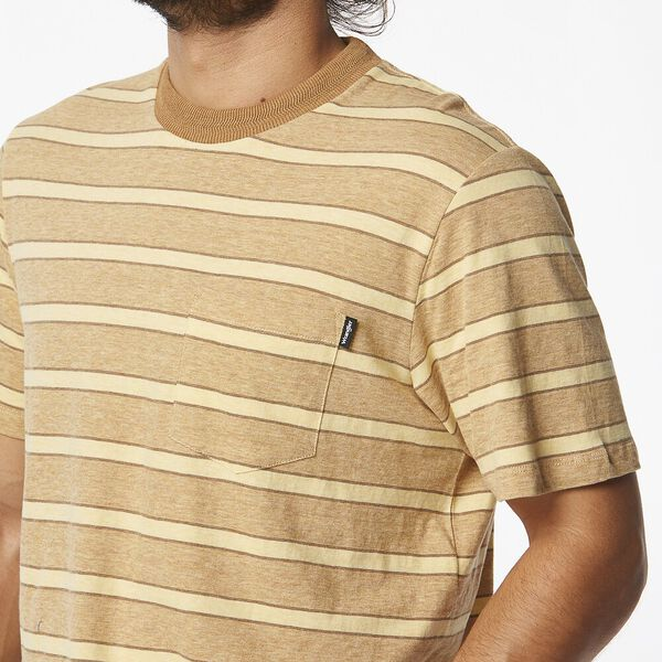 Horizons Tee Gold Tan Stripe, Gold Tan Stripe, hi-res