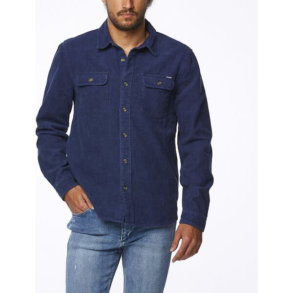 PARALLELS SHIRT WASHED NAVY
