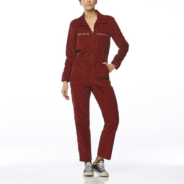 HEARTBREAKER JUMPSUIT RUST RED