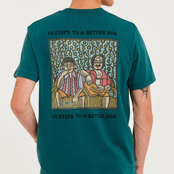 Better Life Tee, Washed Teal, hi-res