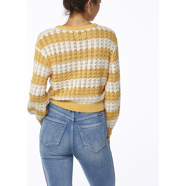 Sunshine Stripe Knit Gold White, Gold White, hi-res