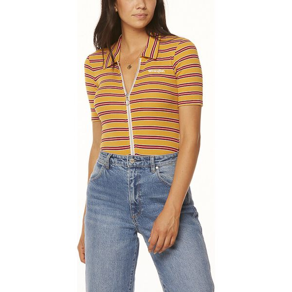 Bleeker Body Suit Mustard Stripe