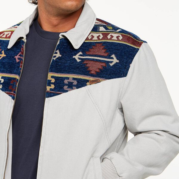 White Lake Bomber Jacket, Stone White, hi-res