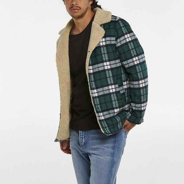CABIN JACKET FOREST CHECK, Forest Check, hi-res