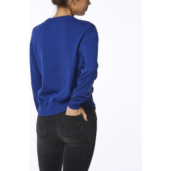 Retrographic Sweater Royal, Royal, hi-res