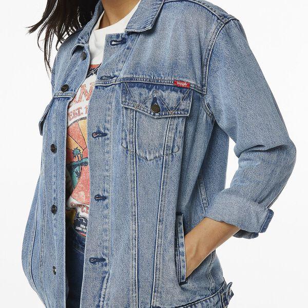 Oversized Denim Jacket Journey Blue, Journey Blue, hi-res
