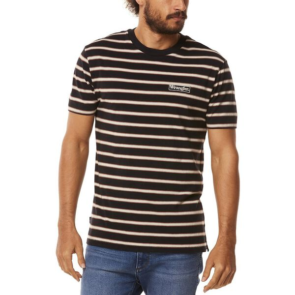VEDDER TEE BLACK STRIPE, Black Stripe, hi-res