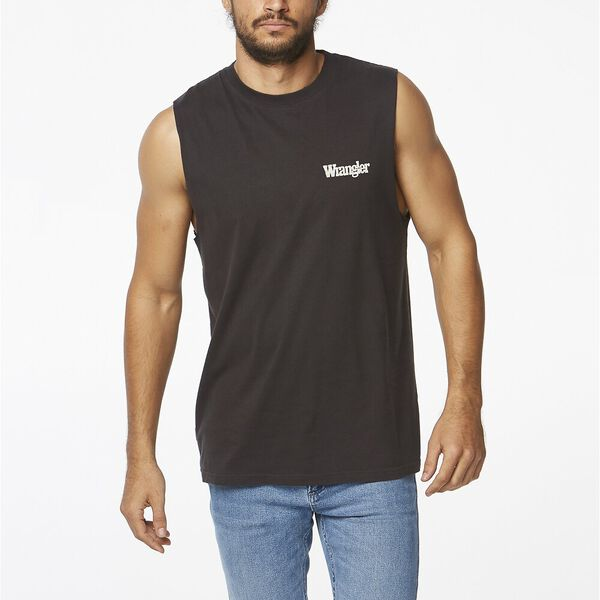 OUTLINES HIT MUSCLE WORN BLACK