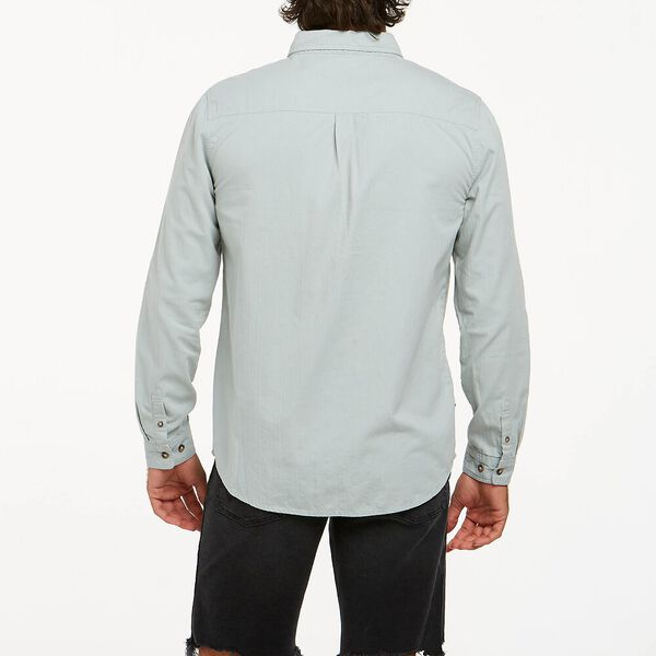 Doing It Clean Long Sleeve Shirt, Mirage Blue, hi-res