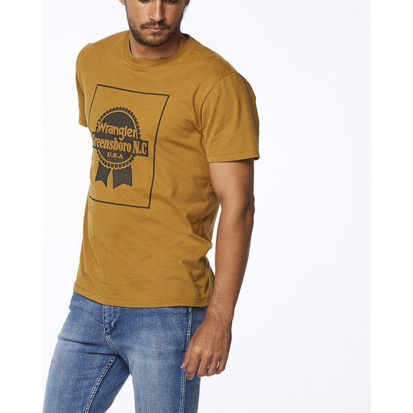 OFF THE TRACK TEE OLD GOLD, Old Gold, hi-res