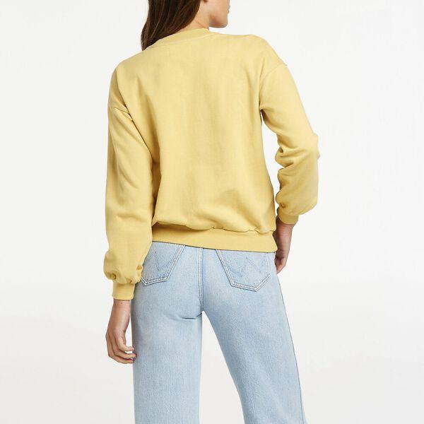 Harrow Fleece Sweater, Faded Lemon, hi-res