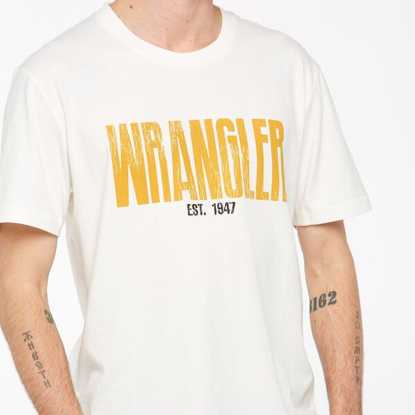 Wrangler Bound Recycled Cotton  Tee, Old Gold, hi-res