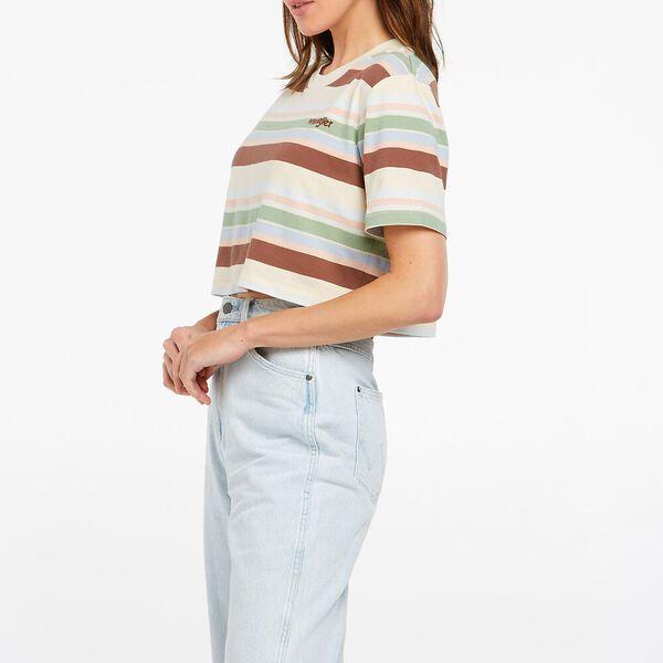 Lori Crop Tee 70's Stripe, 70's Stripe, hi-res