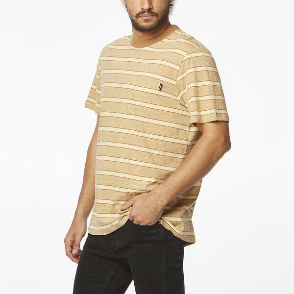 Horizons Tee Gold Tan Stripe, Gold Tan Stripe, hi-res