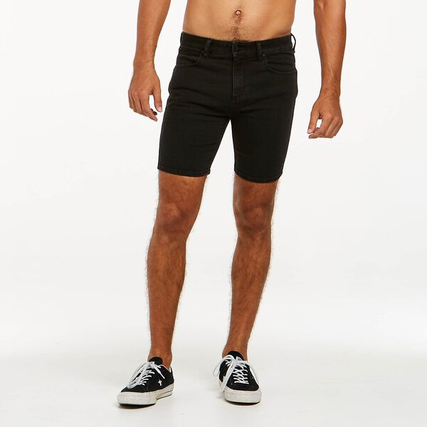 Cigi R28 Skinny Short, Smoke Falling Black, hi-res