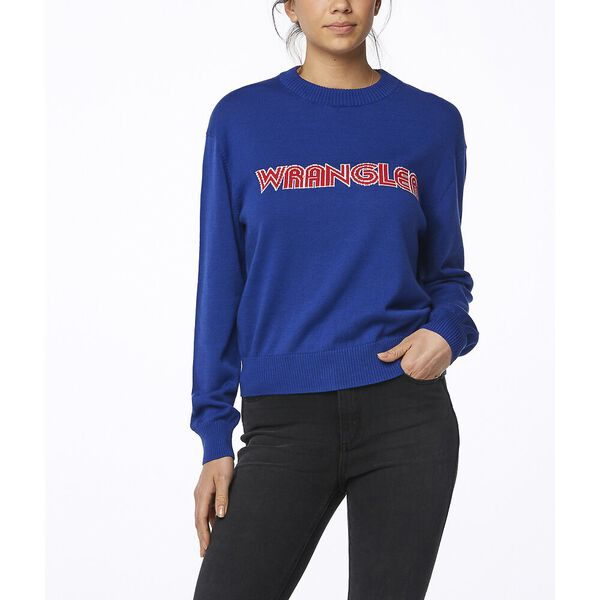 RETROGRAPHIC SWEATER ROYAL
