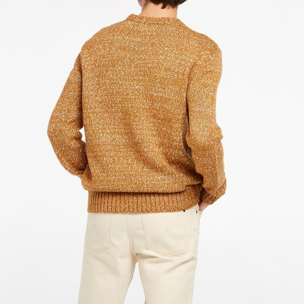 Sun God Knitted Crew, Gold Marle, hi-res