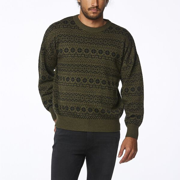 SOUNDTRACK SWEATER OLIVE BLACK
