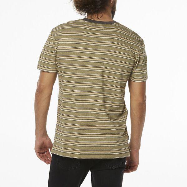 Vedder Stripe Tee, Sage Stripe, hi-res