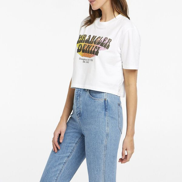 Projections Crop Tee, Optic White, hi-res