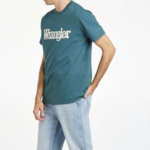 OUTLINES SS TEE WASHED TEAL, Washed Teal, hi-res