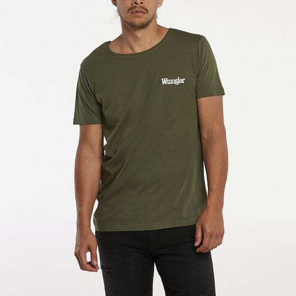 STOMPER OUTLINES TEE, Military, hi-res