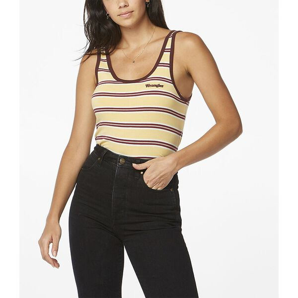 Highways Tank Buttercup Stripe